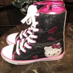 Hello Kitty High Top Glitter Tennis Shoes